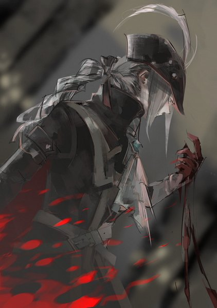 Tags: Anime, Pixiv Id 1736597, Bloodborne, Bloodborne: The Old Hunters, Lady Maria of the Astral Clocktower, Hat Feather, Pixiv, Fanart, Fanart From Pixiv