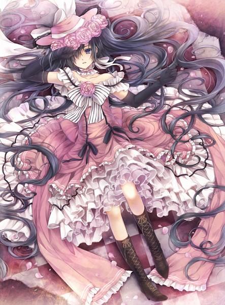 Tags: Anime, Hagiwara Rin, Kuroshitsuji, Ciel Phantomhive, Lady Phantomhive, Wig, Fanart, Revision, Pixiv, Fanart From Pixiv