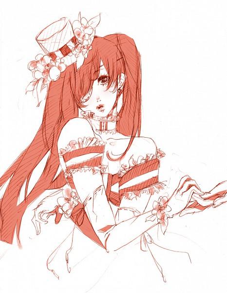 Tags: Anime, Mihoshi, Kuroshitsuji, Ciel Phantomhive, Lady Phantomhive, Wig, Fanart, Pixiv