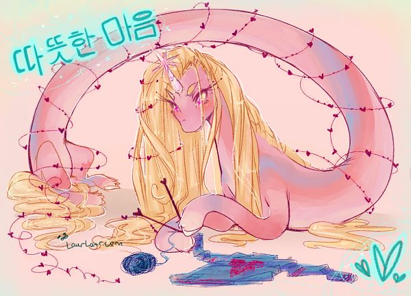 Tags: Anime, Laur, Adventure Time, Lady Rainicorn, Knitting, Fanart, Fanart From DeviantART, deviantART