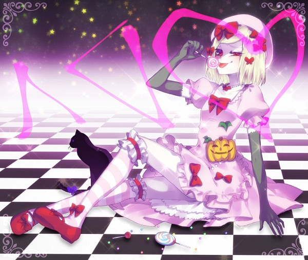 Tags: Anime, Ohagi (Ymnky), Umineko no Naku Koro ni, Lambdadelta, Frederica Bernkastel (Cat), Gray Gloves, Gray Handwear, Fanart