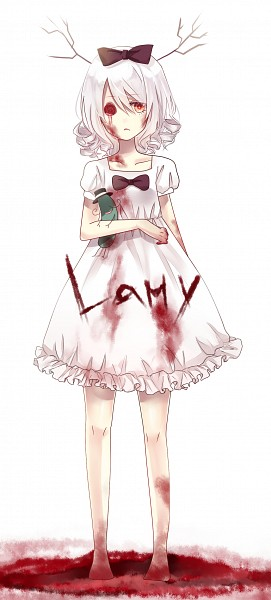Tags: Anime, Devil Pink★, Happy Tree Friends, Mr. Pickles, Lammy, Blood Tears, Cucumber, deviantART, Fanart, Fanart From DeviantART