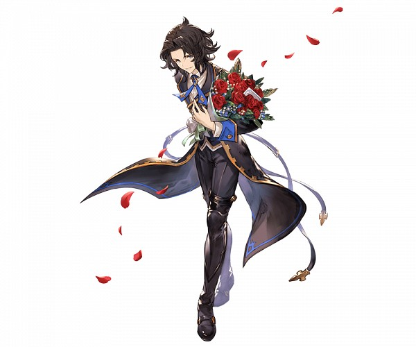 Tags: Anime, Minaba Hideo, Cygames, Granblue Fantasy, Lancelot (Granblue Fantasy), Crossed Legs (Standing), Official Art, Cover Image, PNG Conversion