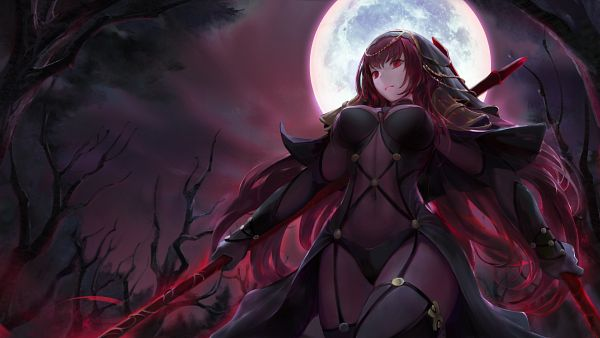 Tags: Anime, Chowbie, Fate/Grand Order, Lancer (Fate/Grand Order), Caster (Scathach Skadi), Wallpaper, Fanart, Revision, Fanart From Pixiv, Pixiv