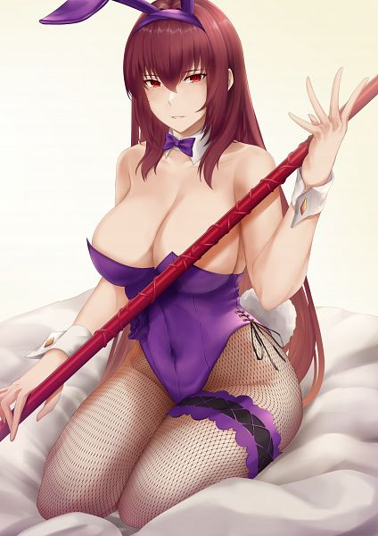 Tags: Anime, Arturaxia, Fate/Grand Order, Lancer (Fate/Grand Order), Playboy Bunny Costume, Bunny Ears Headband, Piercing Bunny, Fanart From Pixiv, Pixiv, Fanart