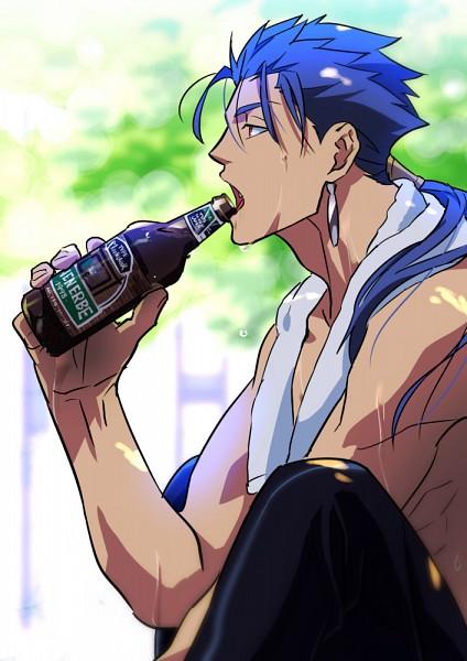 Tags: Anime, Kon Manatsu, Fate/stay night, Lancer (Fate/stay night), Mobile Wallpaper, Fanart, Fanart From Pixiv, Pixiv