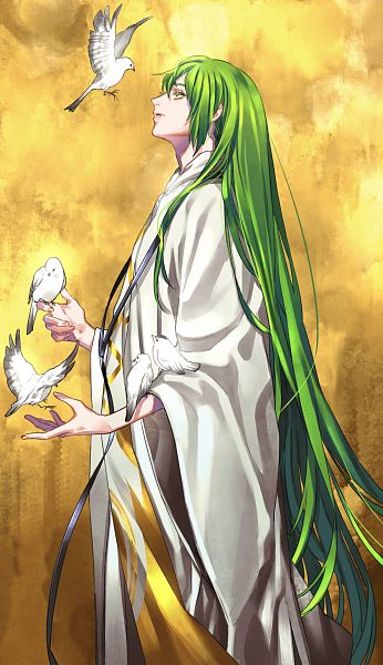 Tags: Anime, Tenobe, Fate/Grand Order, Lancer (Fate/strange fake), White Bird, Gold Theme, Pixiv, Fanart, Fanart From Pixiv