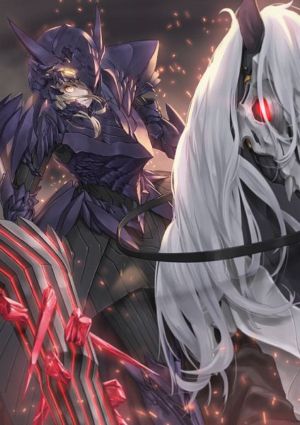 Tags: Anime, Jacky5493, Fate/Grand Order, Saber (Fate/stay night), Lancer Alter, Horseback Riding, Rhongomyniad