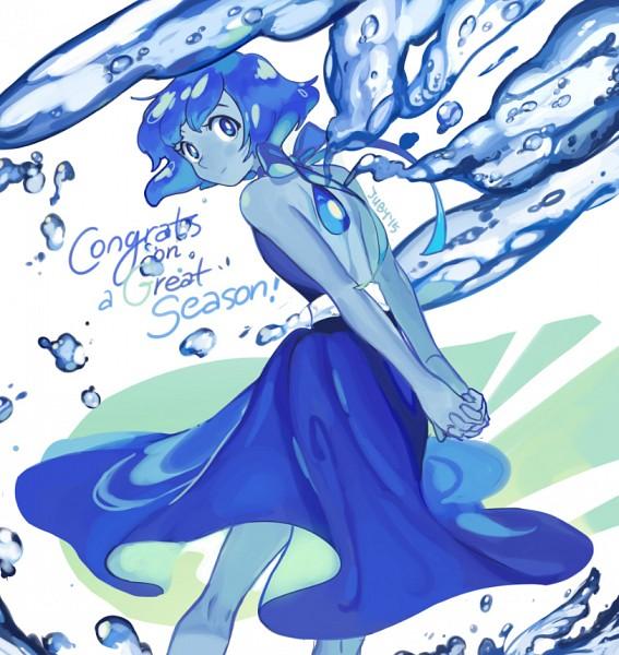Tags: Anime, juby, Steven Universe, Lapis Lazuli (Steven Universe), Transparent Wings, Lapis Lazuli, Kneepits, Blue Gem, Text: Congratulations, deviantART, Fanart, Fanart From DeviantART