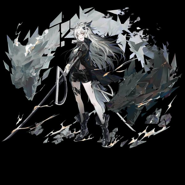 Tags: Anime, Huanxiang Heitu, HyperGryph, Arknights, Lappland, Official Art