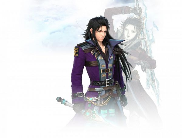 Tags: Anime, Amano Yoshitaka, A-Lim, Final Fantasy: Brave Exvius, Lasswell (FF:BE), 3D, Cover Image, Official Art