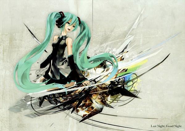 Tags: Anime, redjuice, Inside (redjuice), VOCALOID, Hatsune Miku, Crease, Last Night Good Night, Scan