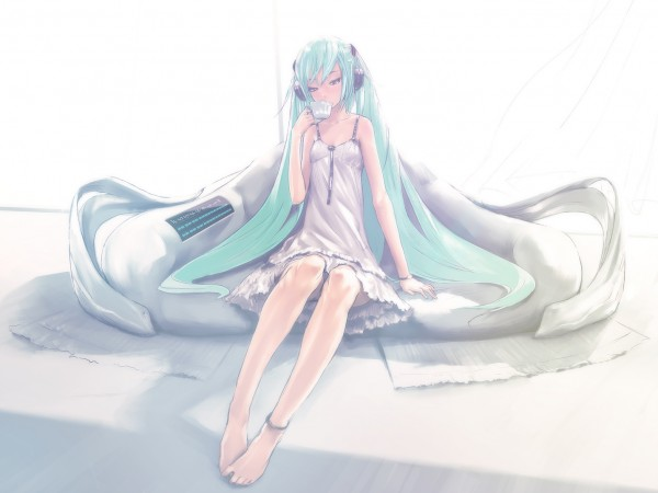 Tags: Anime, redjuice, VOCALOID, Hatsune Miku, Peaceful, Pixiv, Last Night Good Night
