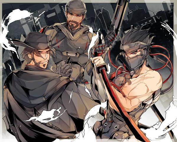 Tags: Anime, Laulaubi, CROWS ZERO, Overwatch, Reaper (Overwatch), McCree, Genji (Overwatch)