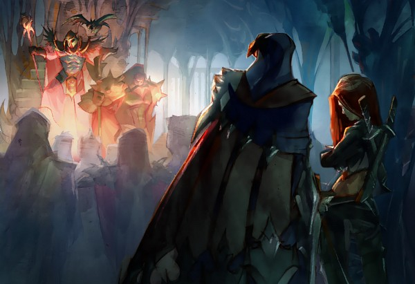 Tags: Anime, Riot Games, League of Legends, Darius (League of Legends), Talon (League of Legends), Swain, Katarina, Artist Request, Official Art