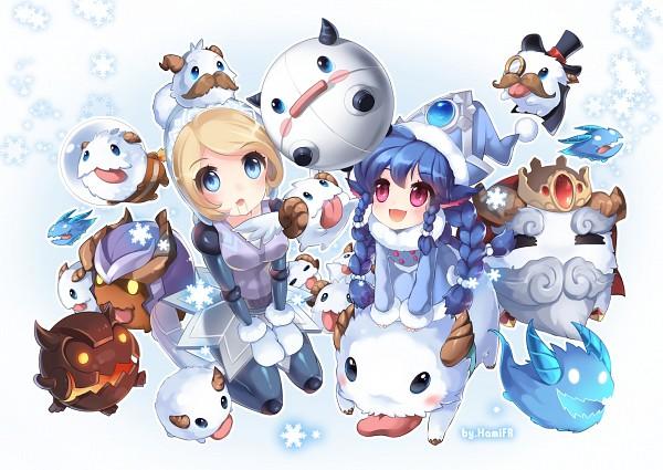 Tags: Anime, Pixiv Id 1373525, League of Legends, Lulu (League of Legends), Orianna, Poro (League of Legends), Alternate Skin Color, Fanart From Pixiv, PNG Conversion, Pixiv, Fanart