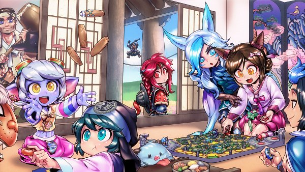 Tags: Anime, Phantom Ix Row, League of Legends, Rakan, Nunu (League of Legends), Tristana, Shyvana, Ahri, Xayah, Shaco