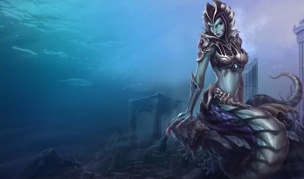 Tags: Anime, League of Legends, Cassiopeia, Lamia, Official Art