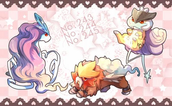 Tags: Anime, Zesilo, Pokémon, Raikou, Entei, Suicune, Fanart From Pixiv, Pixiv, Legendary Pokémon, Fanart, Legendary Beasts