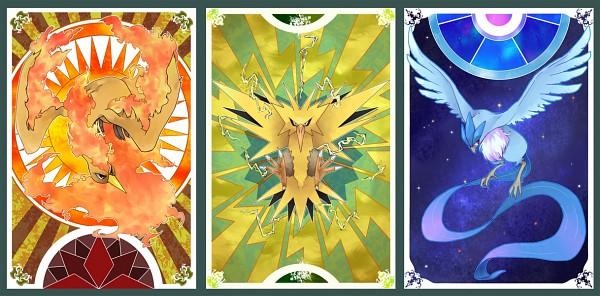 Tags: Anime, Pixiv Id 1440486, Pokémon, Articuno, Zapdos, Moltres, Legendary Pokémon, Facebook Cover, Fanart, Fanart From Pixiv, Pixiv, Legendary Birds