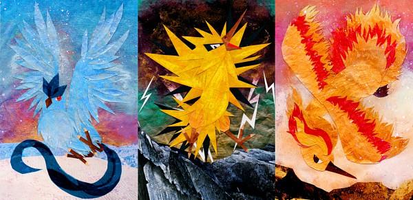 Tags: Anime, Pokémon, Moltres, Articuno, Zapdos, Legendary Pokémon, Legendary Birds