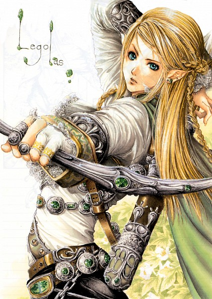 Tags: Anime, Tukiji Nao, The Lord of the Rings, Legolas, Scan, Mobile Wallpaper, Fanart