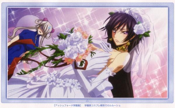 Tags: Anime, CODE GEASS: Hangyaku no Lelouch, Lelouch Lamperouge, Rai (Code Geass), Wallpaper, Official Art