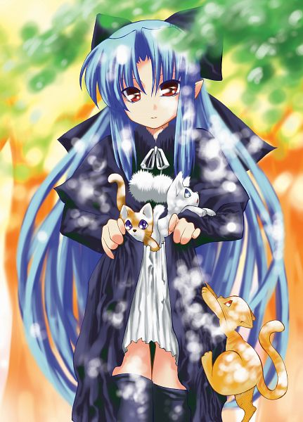 Tags: Anime, TYPE-MOON, Tsukihime, Len (Tsukihime), Skirt Basket, Artist Request