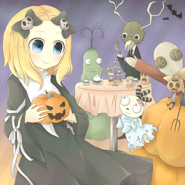 Tags: Anime, Pixiv Id 5292608, Lenore: The Cute Little Dead Girl, Muffin Monster, Lenore, Pooty Applewater, Taxidermy, Wicket Willowbean, Mr. Gosh, Malakai, Ragamuffin