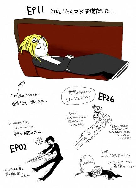 Tags: Anime, mairu, Lenore: The Cute Little Dead Girl, Lenore, Mr. Gosh, Ragamuffin, Mobile Wallpaper, Pixiv