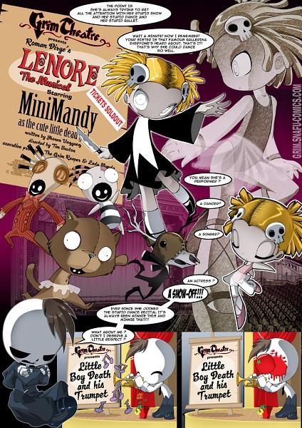 Tags: Anime, bleedman, Grim Tales: From Down Below, Lenore: The Cute Little Dead Girl, Minimandy, Ragamuffin, Lenore, Kitty (lenore), Taxidermy, Junior, Mr. Gosh, Lenore The Cute Little Dead Girl (Cosplay), Mobile Wallpaper