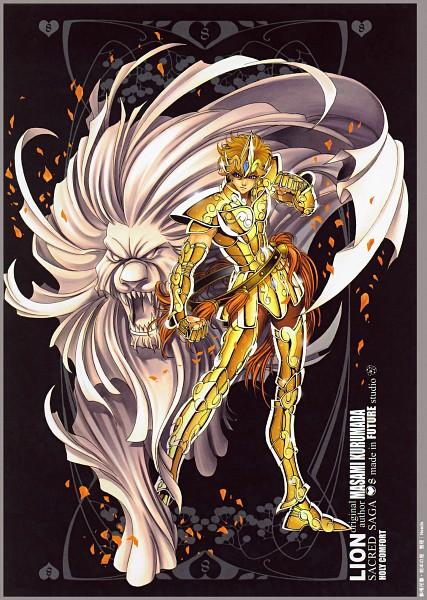Tags: Anime, Future Studio, Saint Seiya, Sacred Saga, Leo Aiolia, Mobile Wallpaper, Gold Saints