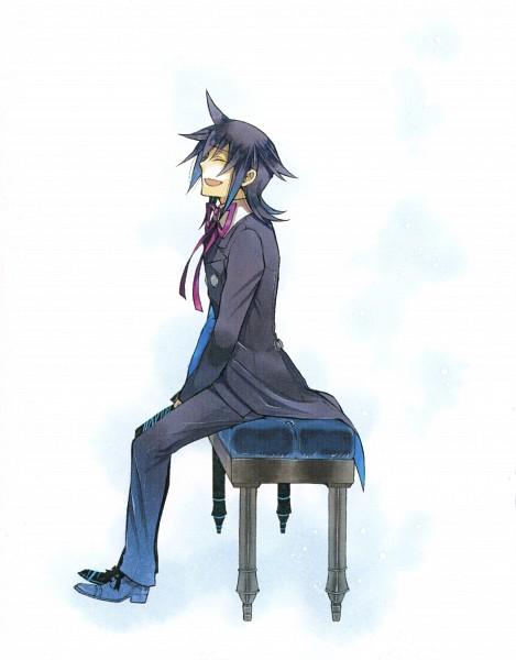 Tags: Anime, Mochizuki Jun, Pandora Hearts, Leo Baskerville, Clean Version, Manga Cover, Official Art, Scan