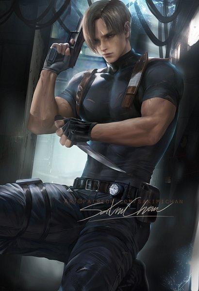 Tags: Anime, Sakimichan, Resident Evil 4, Resident Evil, Resident Evil 2, Leon Scott Kennedy, deviantART, Fanart From DeviantART, Fanart
