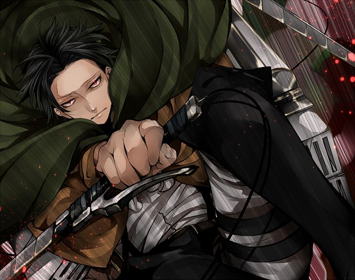 Tags: Anime, Ram (Pixiv1506226), Attack on Titan, Levi Ackerman, Fanart From Pixiv, Pixiv, Fanart
