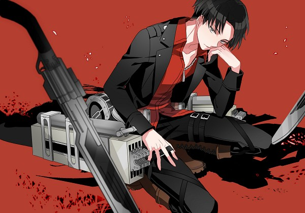 Tags: Anime, Michi (Iawei), Attack on Titan, Shingeki no Kyoujin -Hangeki no Tsubasa-, Levi Ackerman, First-Class Movement Infantry