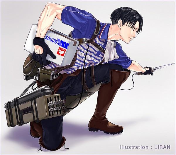 Tags: Anime, Ranmaru (Iro), Attack on Titan, Levi Ackerman, Pixiv, Fanart