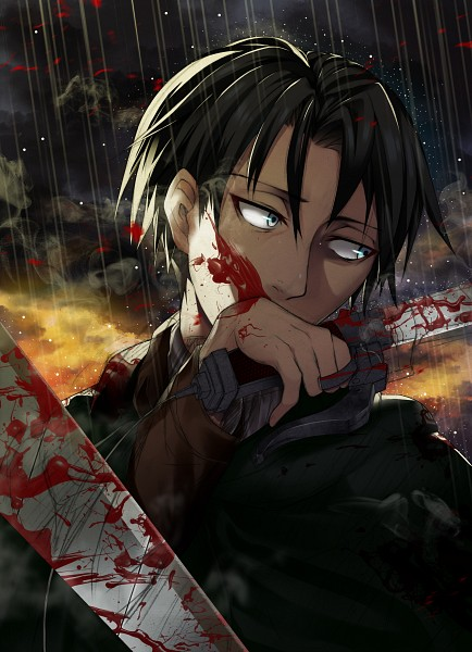 Tags: Anime, Pixiv Id 4594481, Attack on Titan, Levi Ackerman, Wiping Face, Fanart From Pixiv, Mobile Wallpaper, Pixiv, Fanart