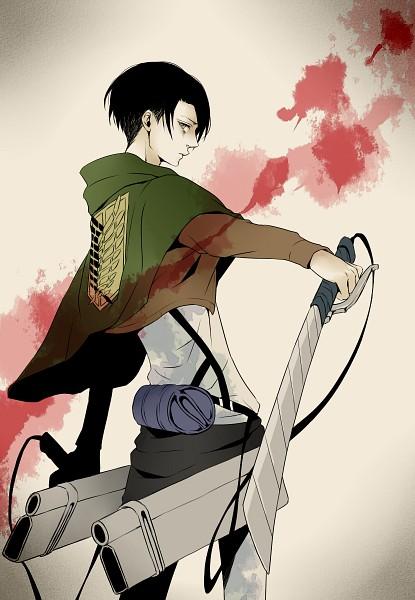 Tags: Anime, Pixiv Id 3336680, Attack on Titan, Levi Ackerman, Green Cape, Mobile Wallpaper, Fanart From Pixiv, Pixiv, Fanart
