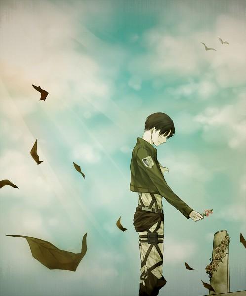 Tags: Anime, Pixiv Id 7409243, Attack on Titan, Levi Ackerman, Grave, Fanart, Fanart From Pixiv, Pixiv