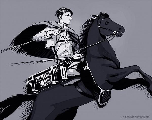 Tags: Anime, J-witless, Attack on Titan, Levi Ackerman, Horseback Riding