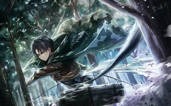 Tags: Anime, Xue Lian Yue, Attack on Titan, Levi Ackerman, Fanart From Pixiv, Pixiv, Fanart