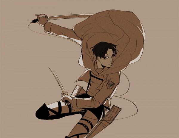 Tags: Anime, Rondeau, Attack on Titan, Levi Ackerman, Floating Cape, Fanart From Pixiv, Pixiv, Fanart