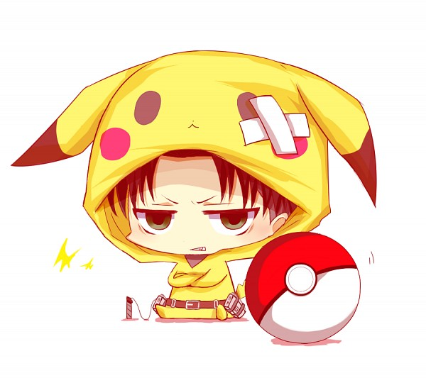 Tags: Anime, Zanya, Attack on Titan, Levi Ackerman, Pokémon (Cosplay), Pikachu (Cosplay), Pixiv, Fanart, Fanart From Pixiv, PNG Conversion
