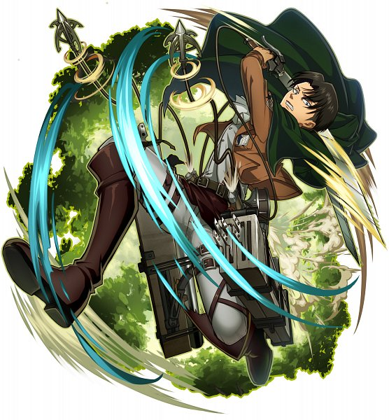 Tags: Anime, studioking, Attack on Titan, Boku & Dragons, Levi Ackerman, Motion Blur, Official Art