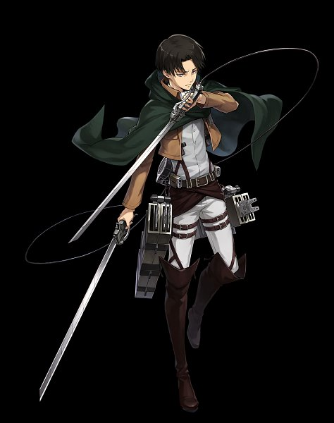 Tags: Anime, Fuji&gumi Games, Attack on Titan, Dare ga Tame no Alchemist, Levi Ackerman, Multiple Weapons, Official Art
