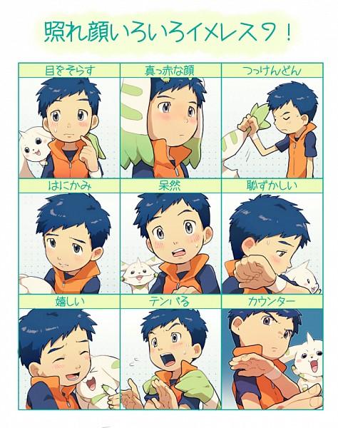 Tags: Anime, TKG, Digimon Tamers, Terriermon, Li Jianliang, Pixiv, Fanart From Pixiv, Fanart