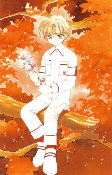 Tags: Anime, CLAMP, Cardcaptor Sakura, Cardcaptor Sakura Illustrations Collection 2, Li Syaoran, Official Art, Mobile Wallpaper