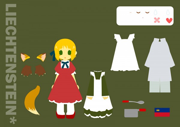 Tags: Anime, Pixiv Id 2389028, Axis Powers: Hetalia, Liechtenstein, Paper Dolls, Cooking Pot, Pixiv, Fanart