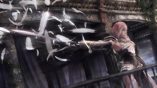 Tags: Anime, Nomura Tetsuya, SQUARE ENIX, Final Fantasy XIII, Lightning Farron, Facebook Cover, 3D, Screenshot, Wallpaper
